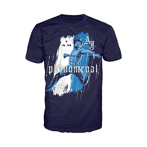 WWE AJ Styles Comic Phenomenal Official Men's T-Shirt (Navy)
