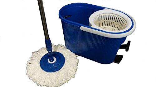 Aqua Laser Spin Mop Platinum - Panno lavapavimenti rotante a 360°, tondo