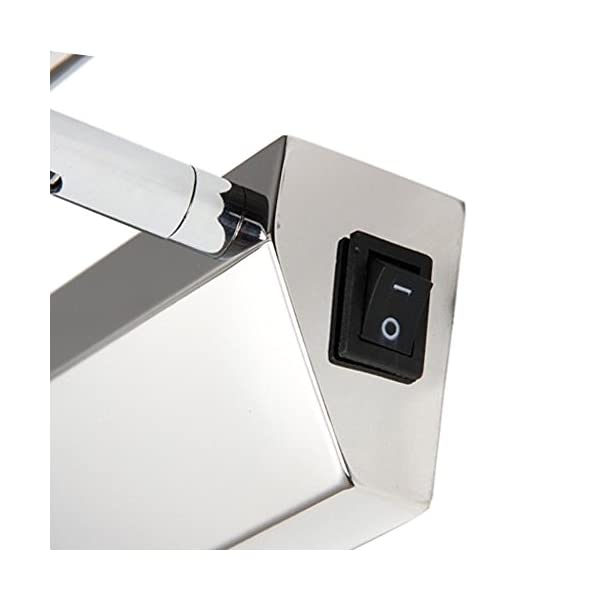 Unicoco 5050 SMD – Lámpara de pared para espejo de baño (luz blanca fría), acero inoxidable, Plateado, 50