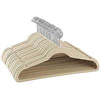 Premium Velvet Hangers 50 Pack - Ultra Thin Space Saving Suit Hangers - Heavy Duty - Non Slip Velvet Coat Hanger - 360° Swivel Hook - Flock Clothes Hangers For Suits, Jackets, Trousers, Jeans