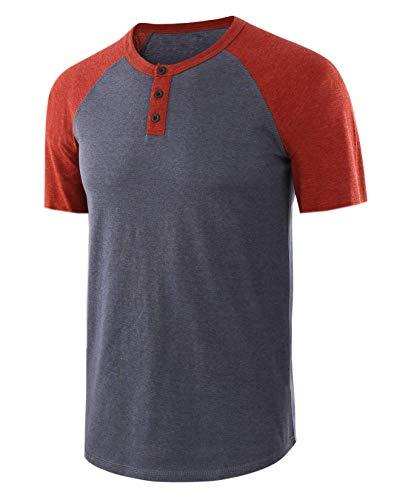 Einfarbiges Rundhals-T-Shirt für Herren mit V-AusschnittHerrent-Shirt 02 S