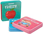 Amazon Brand - Solimo My Baby Foam Books (Set of 3, First Words, Fruits, Numbers)