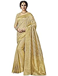 Saree Mall Women's Silk Saree With Blouse Piece (Tmoh1009_Beige)