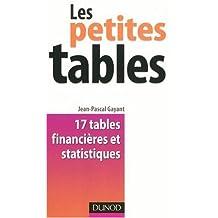 Les petites tables : 17 tables financières et statistiques