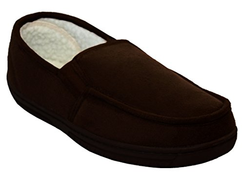 Herren-Schuhe, gefüttert, leicht, warm, Größe: 41 - 47, - Dark Brown/ Russ - Größe: 43 (Dark Brown Faux-pelz -)