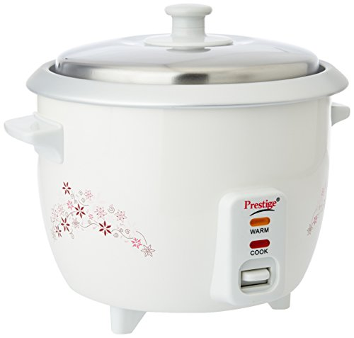 Prestige Delight PRWO 1.0-(400 watt)1-Litre Electric Rice Cooker (White)