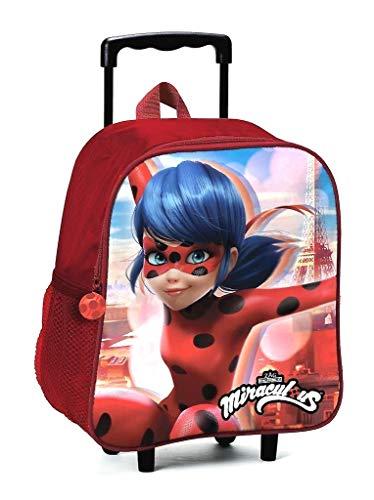 MINI trolley ZAINO Ladybug Miraculous ZAINETTO ASILO SCUOLA + omaggio penna glitterata + omaggio segnalibro