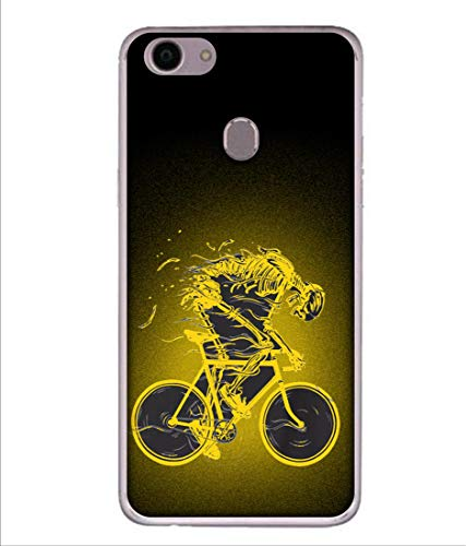 Tivesh Amazing Designer Back Case Cover for Oppo A79 with The Unique Design of Bycycle Fast Running Printed Back coverWith The Beautiful Multicolor Colour