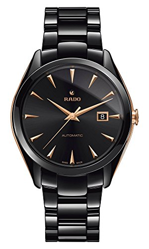 Rado HYPERCHROME Automatic Mens Watch, in Ceramic Black and Pink Details r32252162.