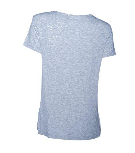 Majestic Damen Shirt Aus Viskose in Hellgrau Meliert 004 gris chine