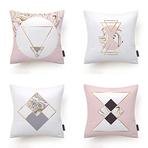 Pillowcase Pillow Shams Soft Plush Throw Pillow Covers Sofa Bed with Invisible Zipper Pack of 4 Decorative...