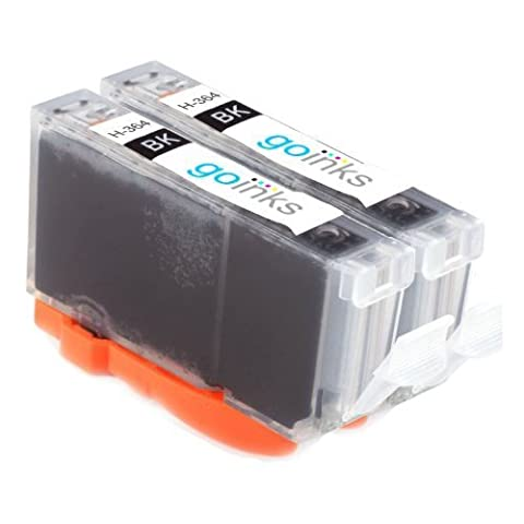 2x Compatible Photo Black HP 364 XL (HP364PBk) Printer Ink Cartridge for HP Photosmart 7510, 7510, B8553, C5380, C5383, C5390, C6300, C6380, D5460, D7560, C309, C309g, C309h, C309n, C310, C310a, C309a, C309c, C410b *High Capacity Ink cartridges, already chipped and shows ink levels!
