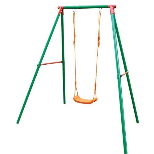 Altalena in acciaio per bambini da 3 a 10 anni per giardino 1 posto