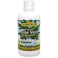 Dynamic Health 946ml 100 Percent Pure Organic Unflavored Aloe Vera Juice