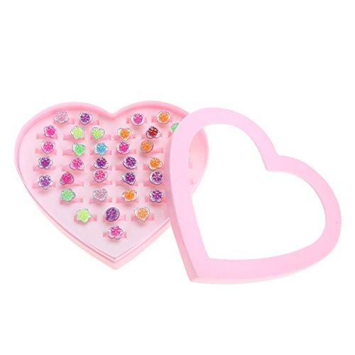 Tinksky-Colorido-plstico-flor-anillos-chispa-ajustable-con-forma-de-corazn-pantalla-caso-para-los-favores-de-partido-cumpleaos-nios-adultos-tamao-36pcs-regalo-de-Navidad