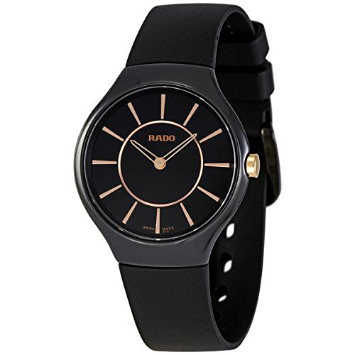 RADO WOMEN'S THIN LINE 30MM SILICONE BAND CERAMIC CASE QUARTZ WATCH R27742159
