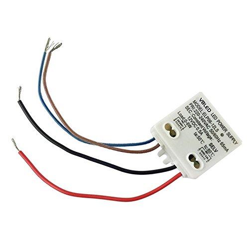 VBLED® 6W TRAFO Netzteil - LED-Treiber 12V DC - Leistungsbereich 0,5 - 6 Watt max. für innen / Spannungswandler 230V auf 12V für LED optimiert (12v Dc Treiber)