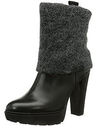 Calvin Klein Jeans E1960 - Botas de Material Sintético Mujer, Negro (Negro (Black BLK)), 36 EU
