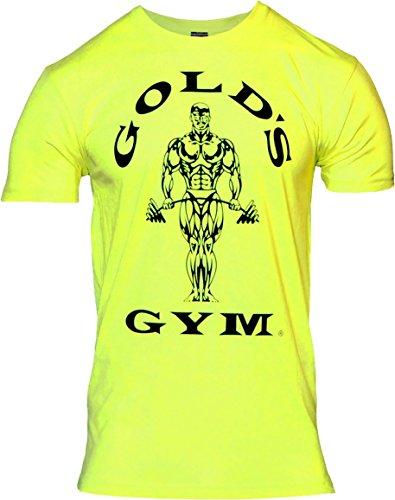 Golds Gym Herren Neon Muscle Joe Tee T-Shirt, Neongelb, L
