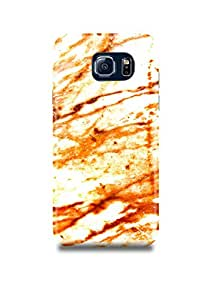 Samsung S7 Cover,Samsung S7 Case,Samsung S7 Back Cover,White & Orange Marble Samsung S7 Mobile Cover By The Shopmetro-27534
