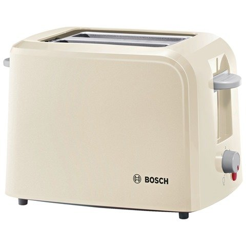 Bosch TAT3A017GB 2 Slice Toaster 825-980 watts Variable browning control Removable crumb tray Electronic sensor – for consistant toasting performance Large surface heating element – Cream/Light Grey