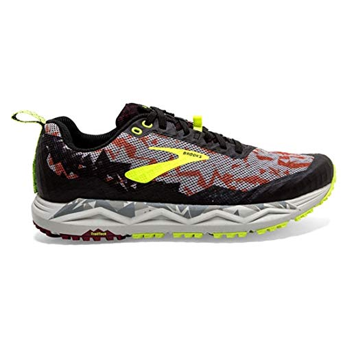 Brooks Herren Caldera 3 Walkingschuhe, Mehrfarbig (Biking Red/Black/Nightlife 650), 44 EU