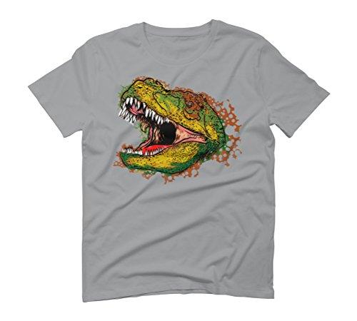 T rex head Men's Graphic T-Shirt - Design By Humans Opal