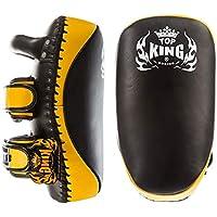 MMABLAST Top King Kicking Pads Ultimate - TKKPU (SV) Negro/Amarillo, Large, Negro/Amarillo