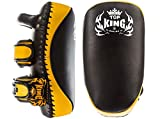 MMABLAST Top King Kicking Pads Ultimate - TKKPU (SV) Negro/Amarillo, Large, Negro/Amarillo