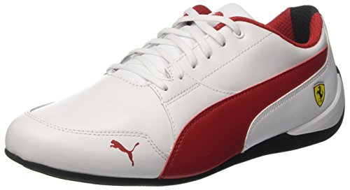 Puma Sf Drift Cat (Puma Unisex-Erwachsene SF Drift Cat 7 Sneaker, Weiß (White-Rosso Corsa-Black), 40 EU)