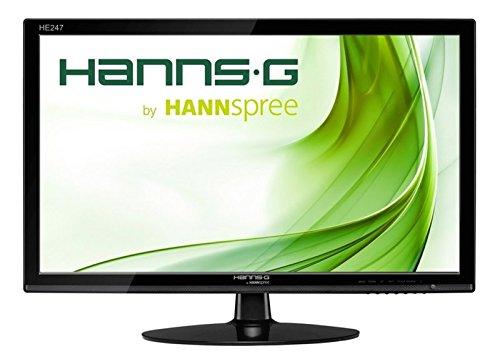 HANNSG HE245HPB 24 Black LED Monitor Full HD Speakers VGA / DVI and HDMI - (Monitors > Monitors)