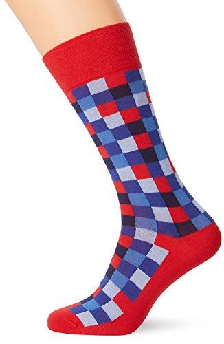 Hackett Herren Multi Block Socks, Rot (Red 255), One Size (Herstellergröße:SM)