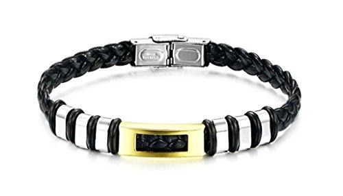 Adisaer Armreifen Indisch Silber Armkette Junge Leder Weben Charm Silber Schwarz Trauung 13Gr 22Cm Geschenk Für Männer