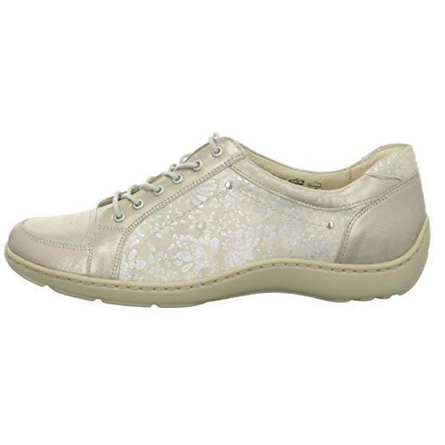 Waldläufer 496005 416 070, Chaussures de Ville à Lacets Pour Femme Gris