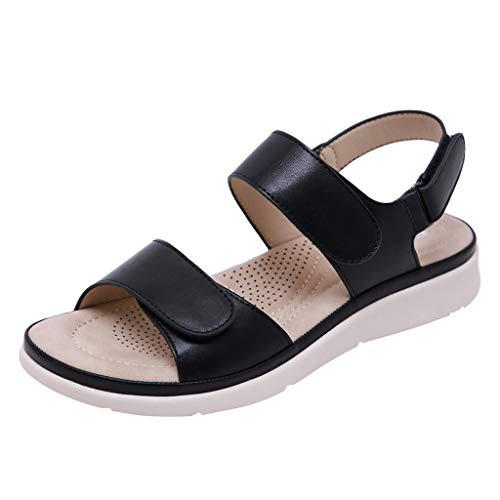 UINGKID Sandalen Damen Mode Peep-Toe- Niedrige römische Flache Schuhe Sommer Strand - Kelly Schuhe Kostüm