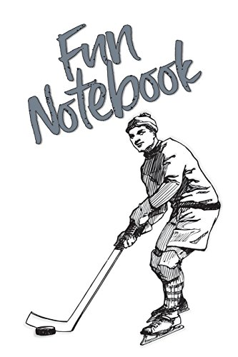Fun Notebook: Boys Books - Mini Composition Notebook - Ages 6 -12 - Ice Hockey Notebook