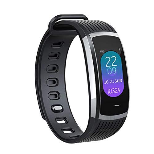 Tianya A18 Bluetooth Herzfrequenz-Blutdruckmessgerät Sport Smart Watch Schrittzähler Smartes Armband(Schwarzes, Silber)