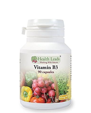 Vitamin B3 (Niacin) 50mg NE x 90 capsules