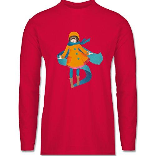Shirtracer Statement Shirts - Herbstspaziergang - Herren Langarmshirt Rot