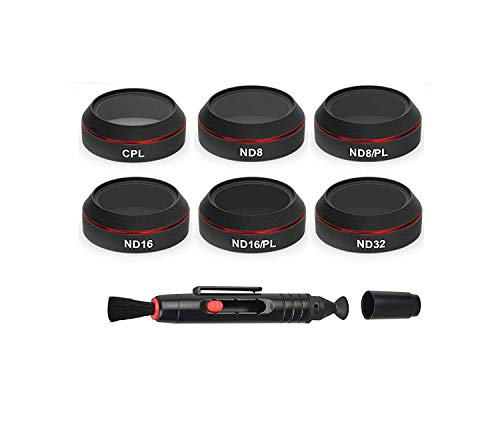 Frewell ND8/ND16/ND32/CPL/ND8PL/ND16PL Objektivfilter 6 Pack kompatibel mit DJI Mavic Pro/Platinum/Alpine White