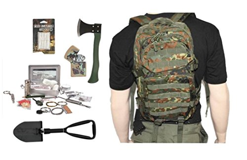 AOS-Outdoor Survival Set Trekking Outdoor Set 6 Teile flecktarn