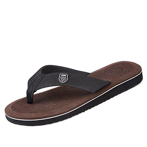 Casual Scuro Sandali Mens Moda Estate Scarpe Infradito Piede Maschile Marrone Alla Pantofole Scarpe qzSBqw