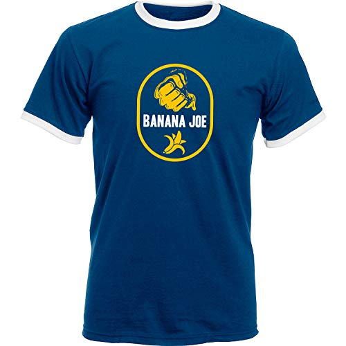 Banana Joe Original Premium Soccer Kontrast Shirt #1 Navyblau/Weiss XXL
