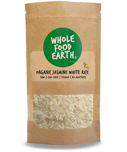 Wholefood Earth - Organic Jasmine White Rice - Raw - GMO Free - Vegan - No additives - 1kg
