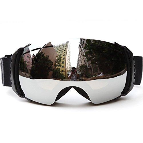 Fiturbo G1 / G2 Schneebrillen Skibrille Snowboard Brille Anti-Nebel UV-Schutz Mit Abnehmbarem Objektiv Wintersport Antifog Brillen für Erwachsene Kinder Damen Frauen Männer Jungen