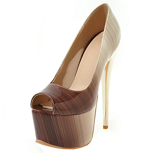 12 Escarpins et Talons ENMAYER Stiletto Plate la Super Robe Sexy la Brun la Cuir Glisser Chaussures Cour de de Femmes forme Mariée Sur wnvFAqSvB