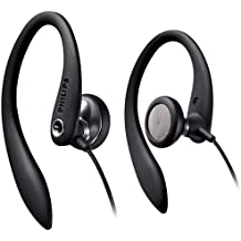 Philips SHS3300BK - Auriculares In-Ear con clip (gancho D Flex ergonómico), negro