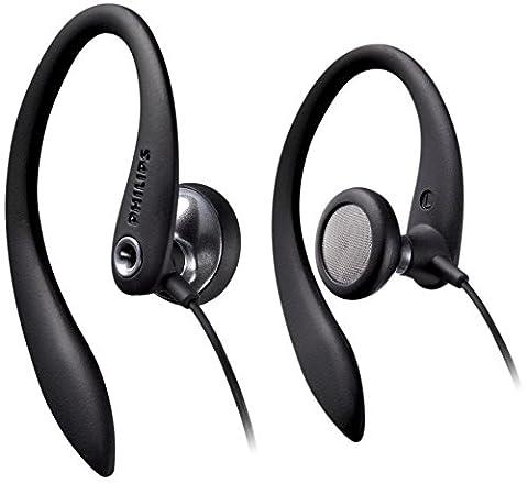 Philips SHS3300BK/00 EarClip Kopfhörer (mit ergonomischen Flex Soft Ohrbügel)