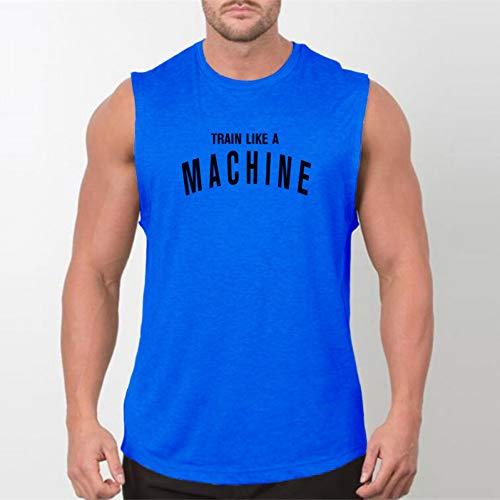DACEBEIXIN Bodybuilding Weste,Mann Tanktops Sexy Fitness Bodybuilding Atmungsaktive Sommer Singen Lettische Schmal Geschnittene Herren Tees Muscle Ärmelloses Shirt -