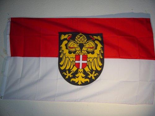 Fahnen Flaggen WIEN MIT WAPPEN 150 x 90 cm